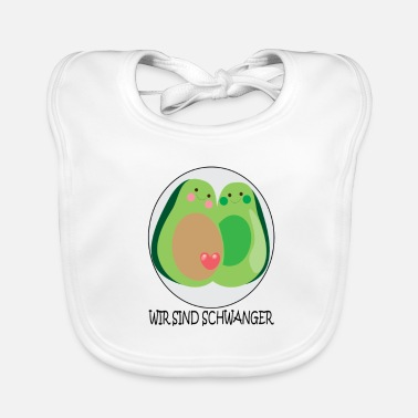 Pregnancy Announcement Avocado pregnancy announcement - Baby Organic Bib