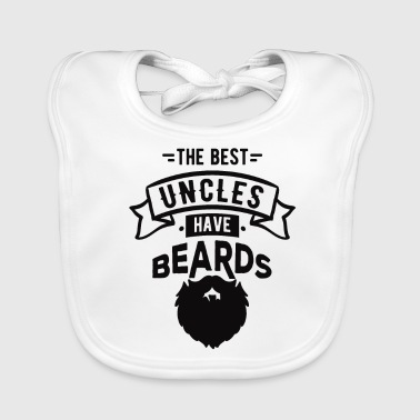 The Best Uncles Have Beards Cool T-Shirt - Baby Organic Bib