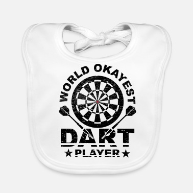 Bar Pub World, Darts, Okay, Bar, Pub, Evening, Gift Idea - Baby Bib
