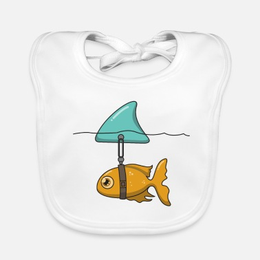 Shark Fin Goldfish with shark fin - Baby Organic Bib