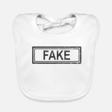 Fake Fake Fake News Fake Press Fake Media T Shirt - Ekologisk babyhaklapp