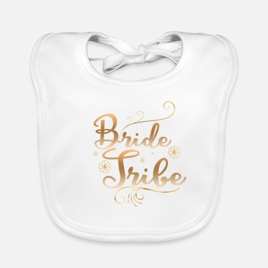 Bride And Groom Bride tribe wedding groom - Baby Organic Bib