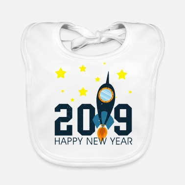 Biggetje To The Moon Rocket Happy New Year 2019 geschenk - Bio-slabbetje voor baby's