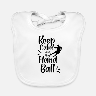 Player Handball Woman Handball Handballer Hand Ball - Baby Bib