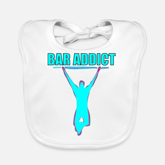 Squat Baby Clothes - bar addict - Baby Bib white