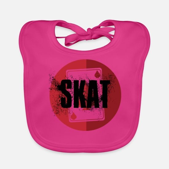 Love Baby Clothes - Skat logo cool graffiti new modern coin vegas - Baby Bib fuchsia