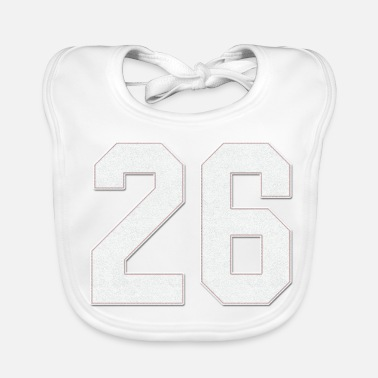 Jersey Number Baseball Sports Jersey Number / Jersey Number 26 - Baby Bib