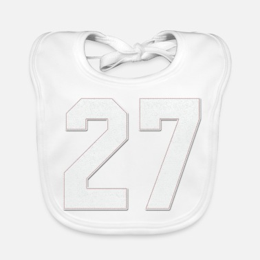 Jersey Number Baseball Sports jersey number / Jersey Number 27 - Baby Bib