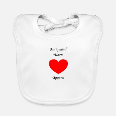 Writing Antiquated Hearts Gothic Writing - Bio-slabbetje voor baby's