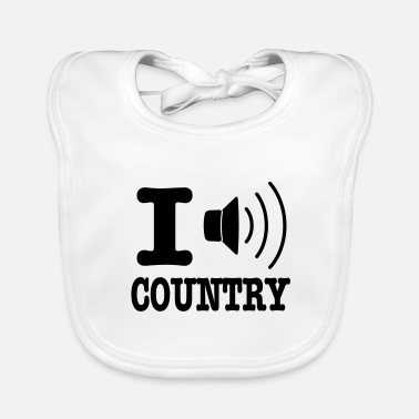 Country I music country / I love country - Ekologisk babyhaklapp
