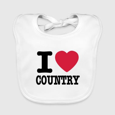 Country i love country / i heart country - Baby økologisk hagesmæk