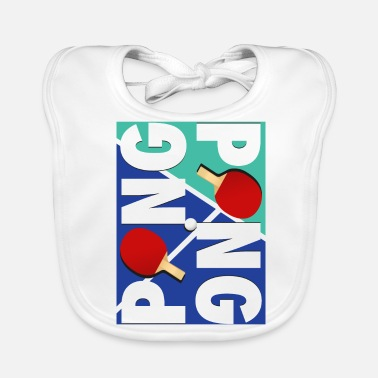 Sports Ping Pong sports racket design - Baby Bib
