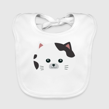 White cat with a spotted coat Shirts - Baby Organic Bib