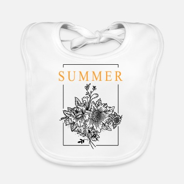 Summer Summer bouquet - Baby Bib