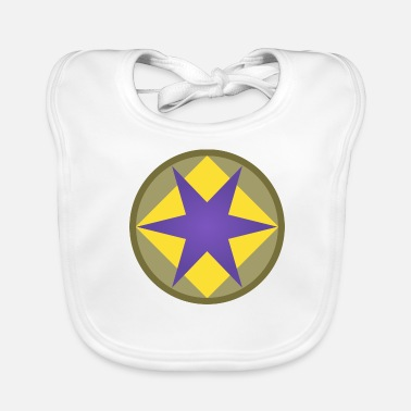 Infantry US 46th Infantry Division - Baby Organic Bib