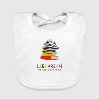 Library Library Librarian - Baby Organic Bib