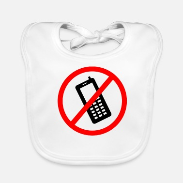 Prohibited Cellphone prohibited - Baby Bib