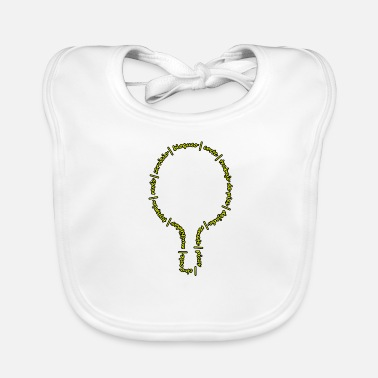 Ball The language of table tennis - Baby Organic Bib
