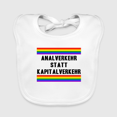 Anal intercourse instead of capital LGBT Gay Pride - Baby Organic Bib