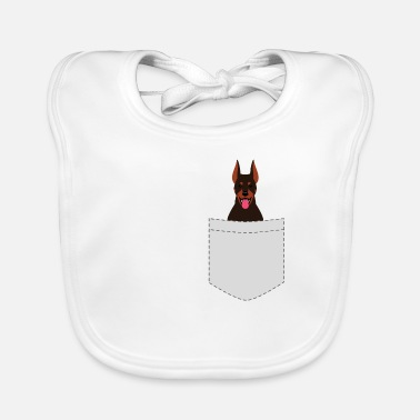 Doberman Doberman pocket breast pocket dog dogs gift - Baby Organic Bib