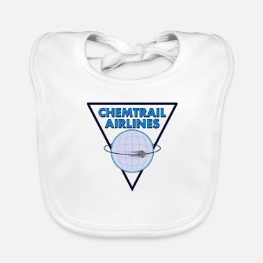 Airline Chemtrail Airlines Pilot - Baby Bib