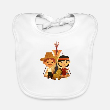 Cowboy and Indian - Baby Bib