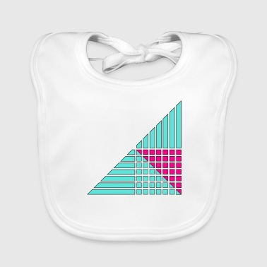 lines and squares decor decor - Baby Organic Bib