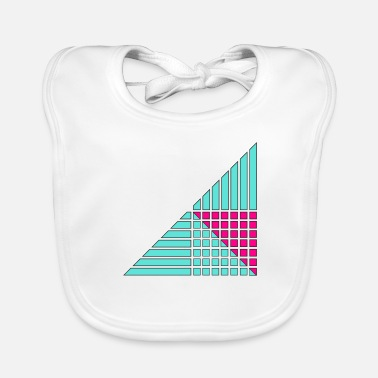 Decorating lines and squares decor decor - Baby Organic Bib