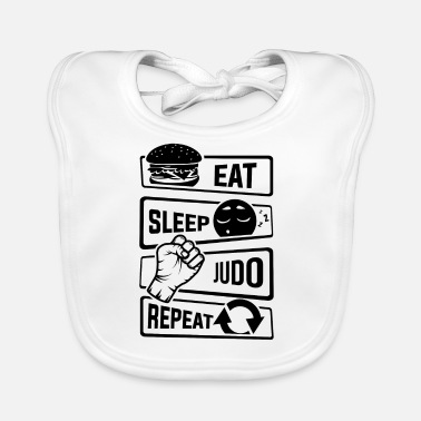 Minimum Eat Sleep Judo Repeat - Martial forsvar - Baby økologisk hagesmæk