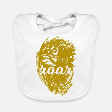 Roar Tiger roar roar in gold - Baby Organic Bib