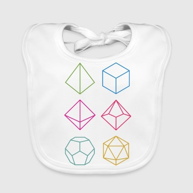 Dungeons And Dragons Minimal dnd (dungeons and dragons) dice - Baby Organic Bib