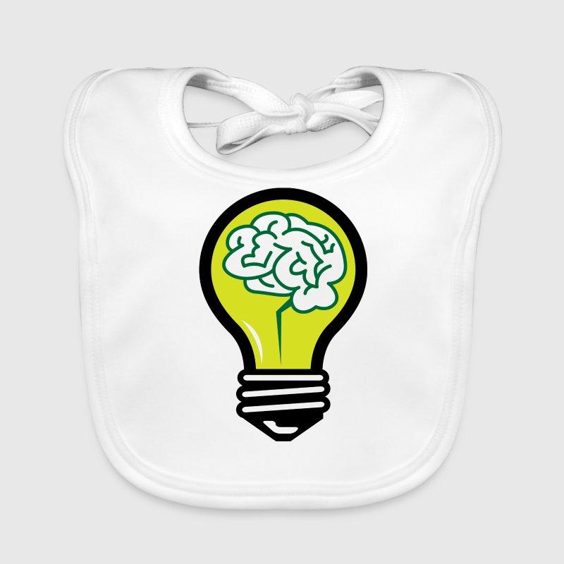 Glühbirne mit einem Gehirn von Funny-Slogan-T-Shirts | Spreadshirt