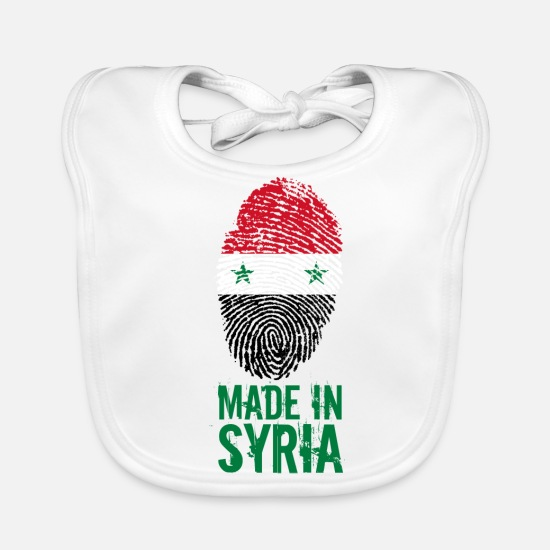 Proud Baby Clothes - Made in Syria / Made in Syria الجمهورية - Baby Bib white
