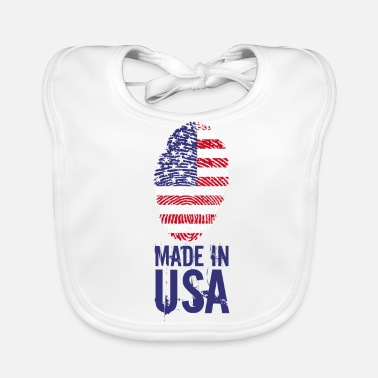 Usa Made in USA / Made in USA Amerika - Bio-slabbetje voor baby's