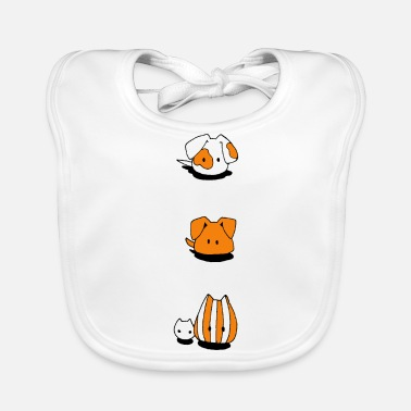 Two Two dogs and two cats - Baby Organic Bib