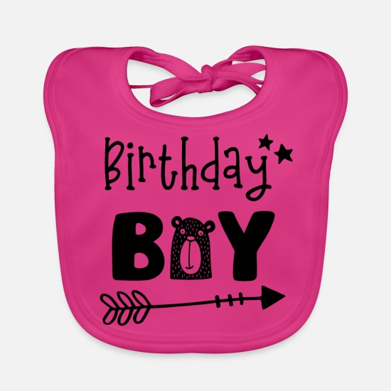 Birthday Baby Clothes - Birthday Boy - Boys Birthday Birthday Party - Baby Bib fuchsia
