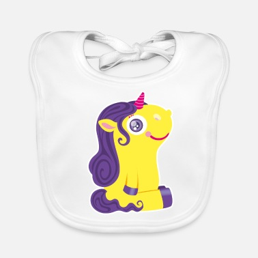 Kelly green/white unicorn Bags & Backpacks - Baby Bib