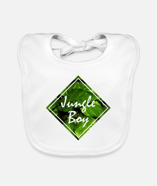 2019 Baby Clothes - jungle boy jungle boy jungle leaves - Baby Bib white