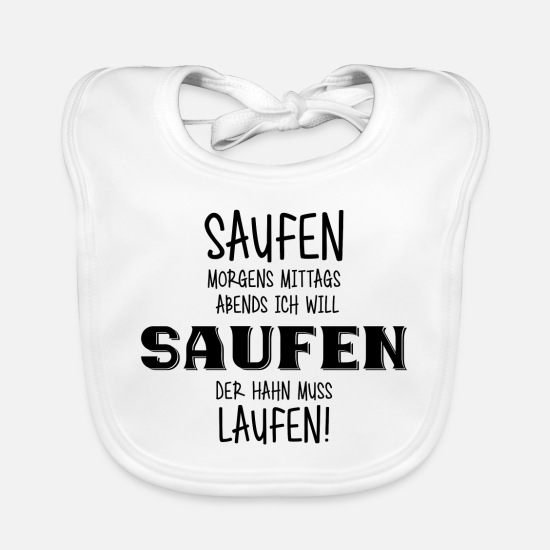 Alcohol Baby Clothes - MORNING LUNCH EVENING CLEANING (b) - Baby Bib white