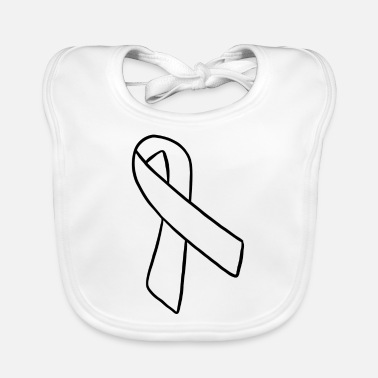 Awareness Ribbon Graphic Awareness Ribbon Gift Arrow - Baby Bib