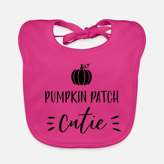 Birthday Baby Clothes - Pumpkin Patch Cutie Gift Halloween Monster Hex - Baby Bib fuchsia