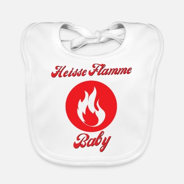 Glut Hot flame baby fire (gift for friend) - Baby Bib