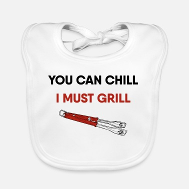 Smoker Grill Barbeque Funny Grill BBQ - Baby Bib