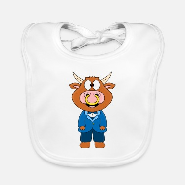 Groom Bull - cow - bull - cattle - groom - wedding - Baby Bib