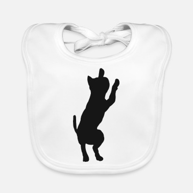 House Tiger Cat kitty cats silhouette house tiger - Baby Bib