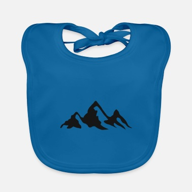 Christmas Present Mountains mountain hike mountaineering hiker mountains - Baby Bib