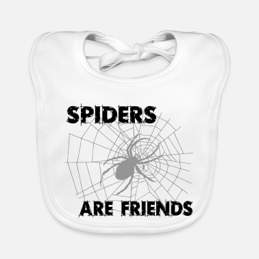 spiders are friends - Baby Bib
