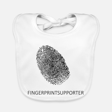 Fingerprint Cards Fingerprint supporter linen! - Baby Bib