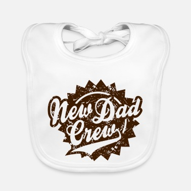 New Dad Drew New Dad Crew Vintage Shield Design Brown - Lätzchen