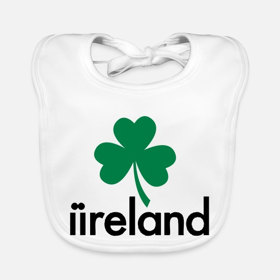 Green Baby Clothes - Ireland - Homosexual Marriage - Baby Bib white